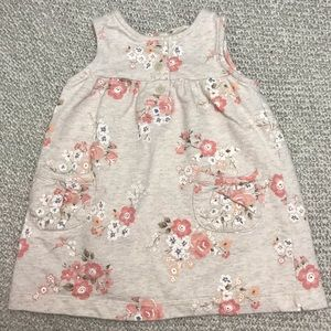 Carter's Dresses - Carter's Cream and Pink Sleeveless Baby Dress